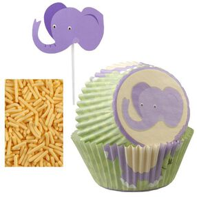 Wilton Elephant Cupcake Decorating Kit, 48 Ct. 415-2196
