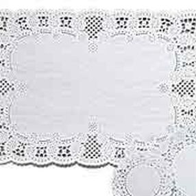 10 x 14 in. Rectangle Grease-Proof White Doilies