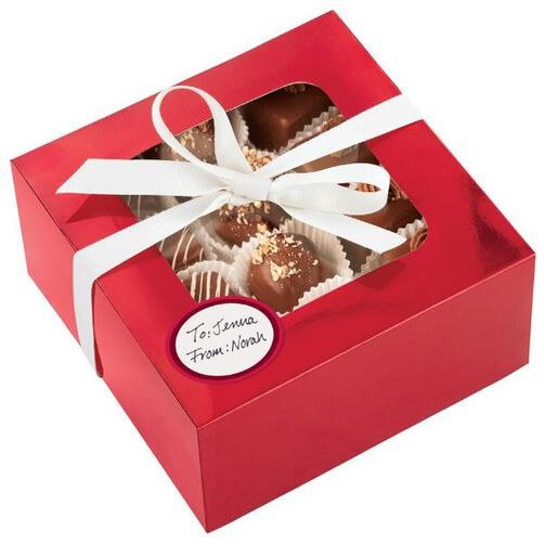 Red Foil Medium Treat Box