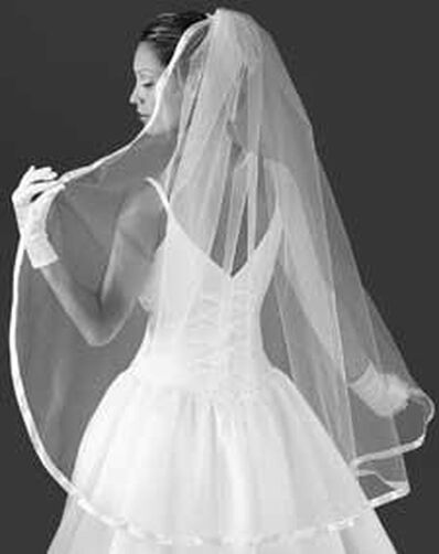 5/8 in. Ribbon Edge Bridal Veil