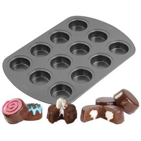 Wilton 12-Cavity Spool Cakes Mini Cake Pan 2105-3647