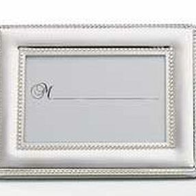 Silver Beaded Favor Frame