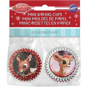 Wilton Rudolph the Red-Nosed Reindeer Mini Cupcake Liners