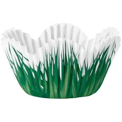 Shaped Grass Mini Baking Cups