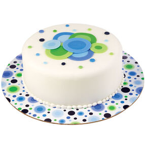 Blue/Green Circles Cake Boards 12 in.