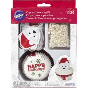 Christmas Polar Bear Cupcake Decorating Kit