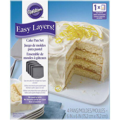 Easy Layers! Square Cake Pan Set