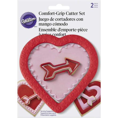 Comfort Grip Heart & Arrow Cookie Cutter Set