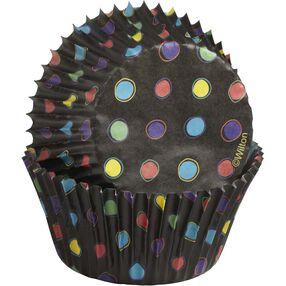 Polka Dots Black Cupcake Liners