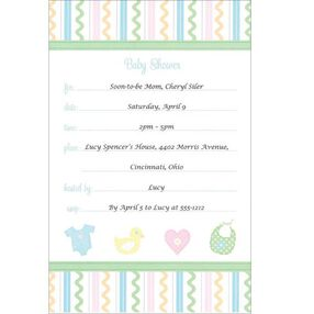 Sweet Baby Invitations