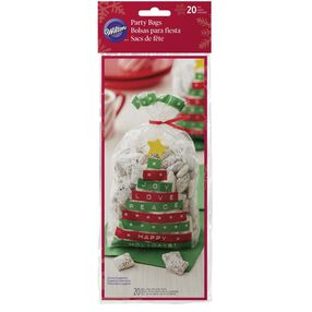 Happy Holidays Tree Standard Party Bag