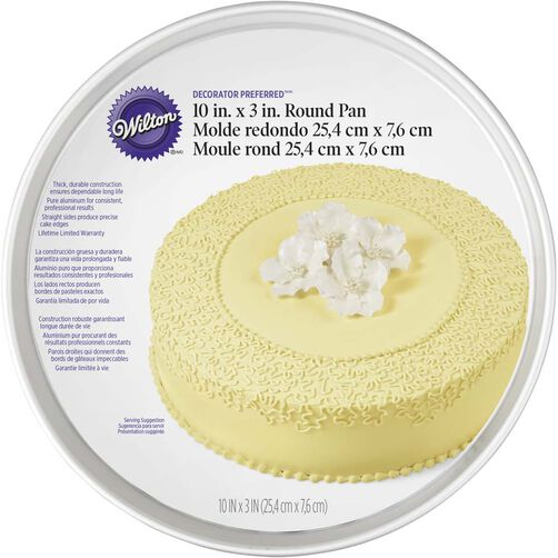 Wilton Cake Pans - Decorator Preferred 10 x 3 Round Cake Pan