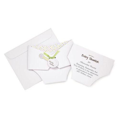 Gender Neutral Diaper Baby Shower Invitation Set – Diaper Invitation