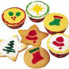 Christmas Cupcake & Cookie Stencils