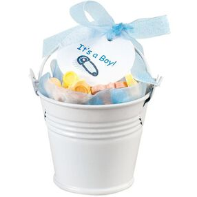 White Pail Favor Kit