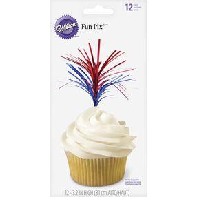 Patriotic Foil Cupcake Topper