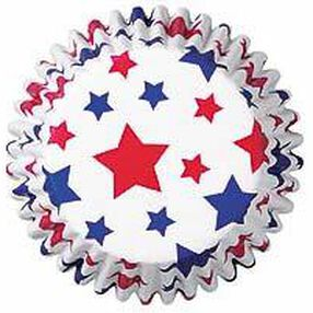 Patriotic Stars Baking Cups