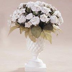Paper Rose with Porcelain Stephanotis Accents