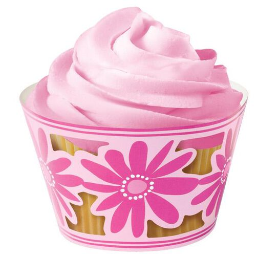 Pink Party Cupcake Wraps