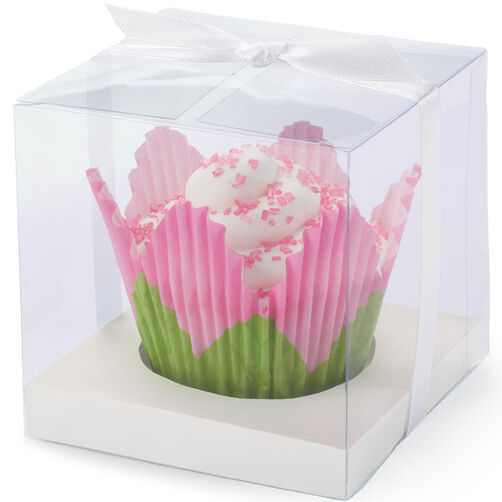 White Pearl Clear Favor Box Kit