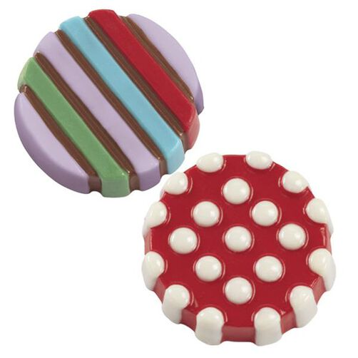 Dot & Stripes Cookie Candy Molds