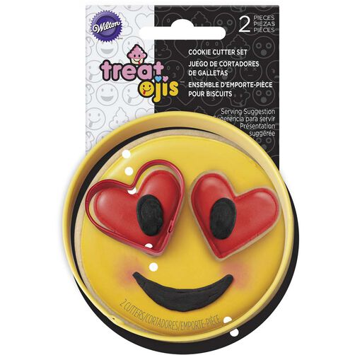 2pc Emoji Cookie Cutter set in packaging