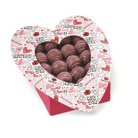 Wilton Valentine?s Day Doodles Heart-Shaped Treat Boxes, 3-Ct.