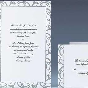 Joined Together (Silver) Wedding Invitation Kit