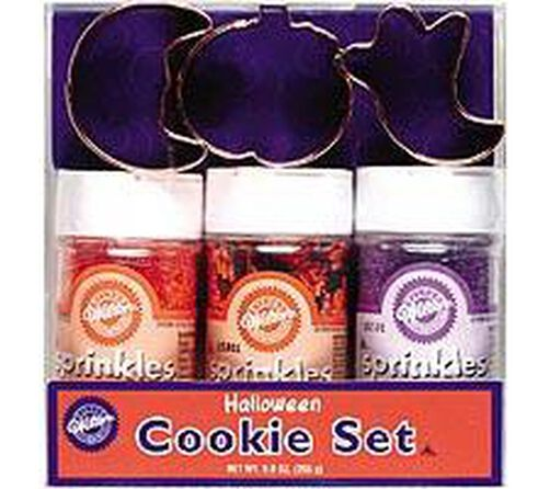 Halloween Cookie Cutter and Sprinkles Set