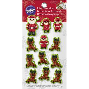 Wilton Christmas Santa & Elves Candy Decorations