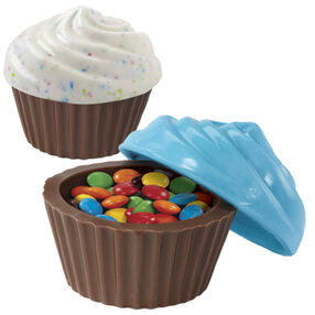 3-D Cupcake Look Container Classic Candy Mold