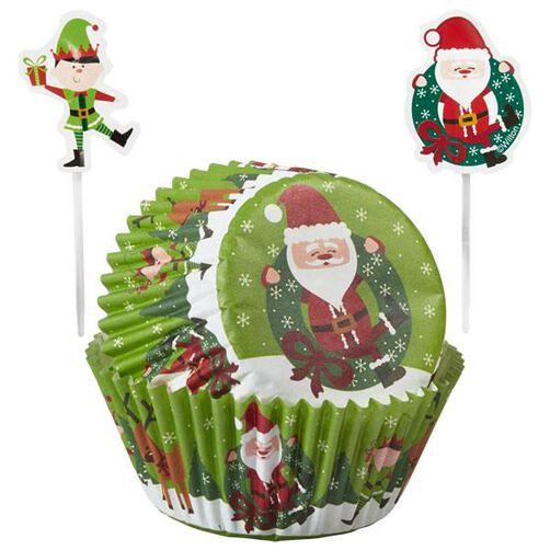 Christmas Sharing Cupcake Combo Baking Cups and Picks