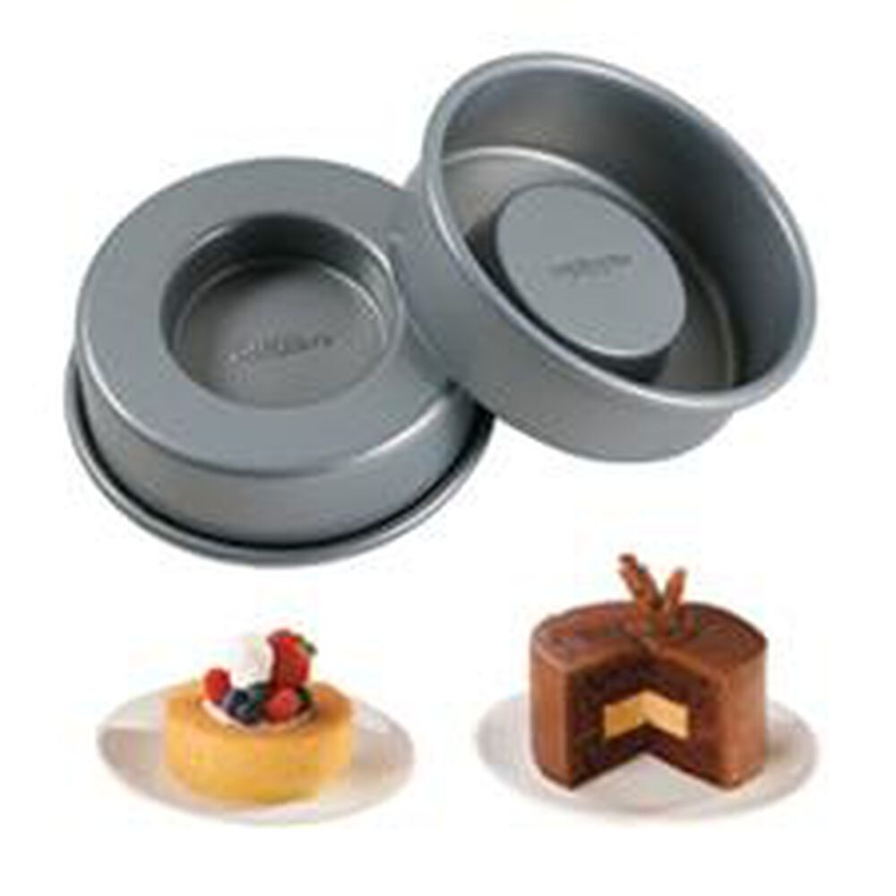 mini tasty fill 4 piece cake pan set wilton