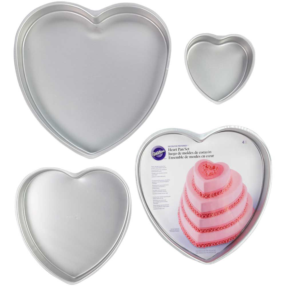 18+ [ Decorator Preferred Heart Cake Pan ] Icing Ruler ...