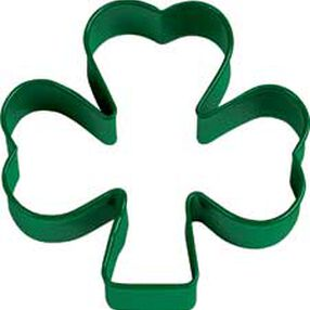 Shamrock Green Metal Cookie Cutter