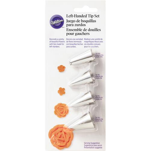 Left-Handed Decorators Flower Icing Tip Set