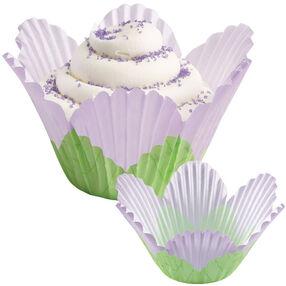 Lavender Flower Petal Cupcake Liners