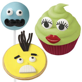 Wilton Mustache, Lips and Teeth Decorating Candy Set 710-1196