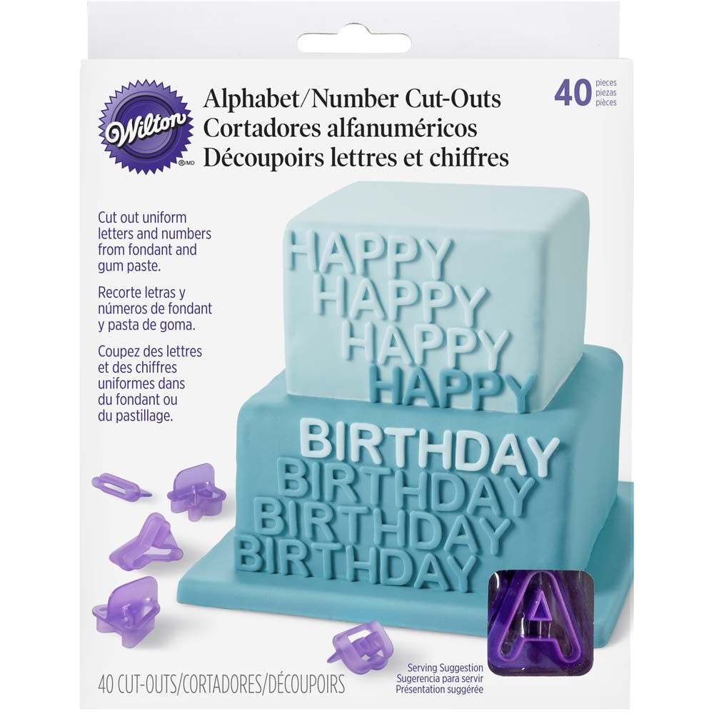 Alphabet & Number Fondant Cut-Out Set | Wilton