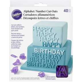 Alphabet & Number Fondant Cut-Out Set