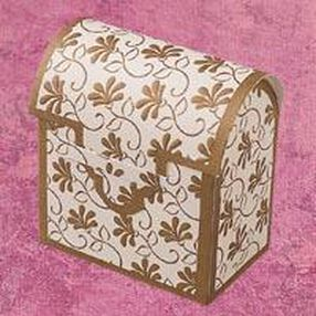 Gold Chest Favor Boxes