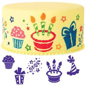 6-Pc. Party Fun Cake Stamp Set