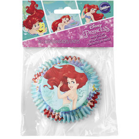 Disney Princess Little Mermaid Ariel Cupcake Liners, 50-Count