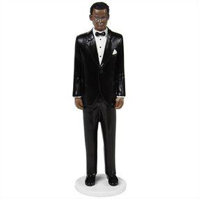 Wilton Wedding Cake Topper Figure, Classic Groom with Dark Curly Hair