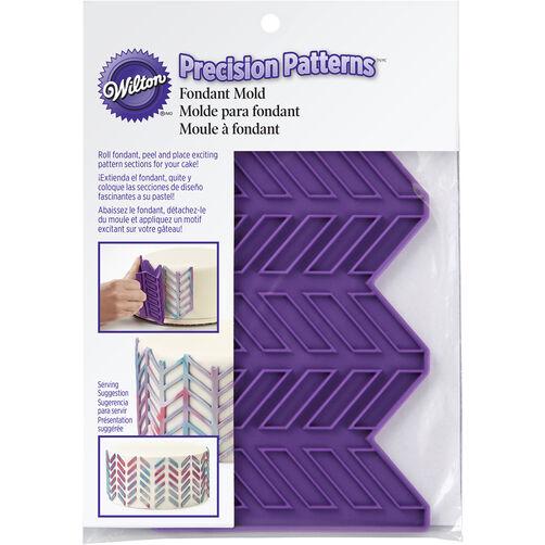 Precision Patterns Herringbone Fondant Mold