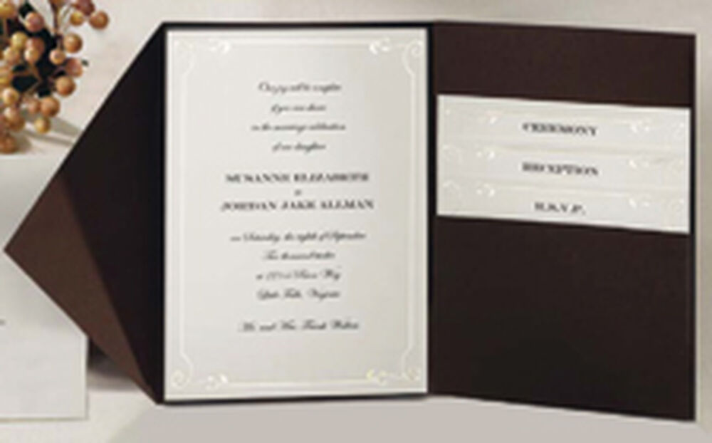 vintage ivy pocket invitation kit wilton