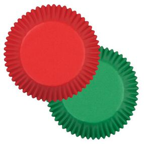 Red and Green Standard Baking Cups