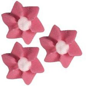 Pink Petite Flower Icing Decorations