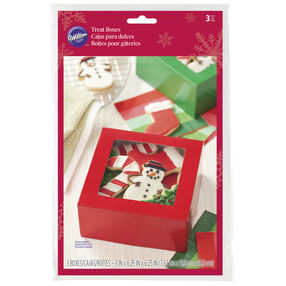 Red and Green Square Treat Boxes