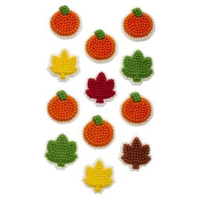 Wilton® Fall Pumpkin & Leaf Mini Icing Decorations, 24-Ct.